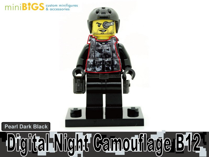 Digital Night Camouflage B12
