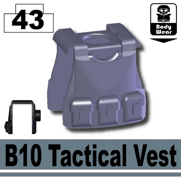 Dark Blue Gray_B10 Tactical Vest