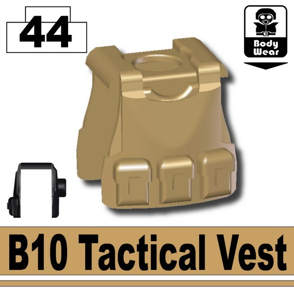 Dark Tan-2_B10 Tactical Vest