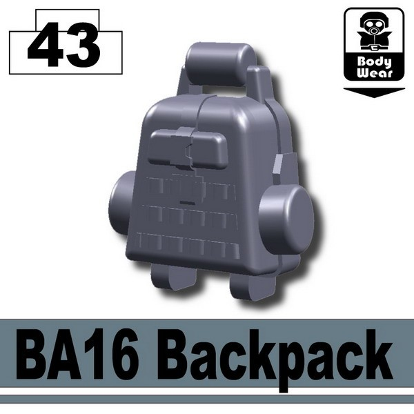 Dark Blue Gray_BA16 Backpack
