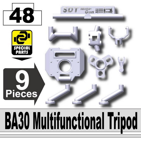 Light Silver_BA30 Multifunctional Tripod