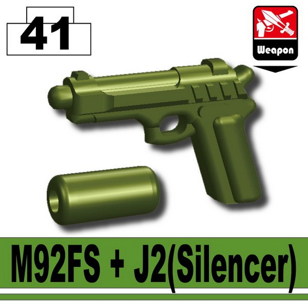 Tank Green_M92FS+J2(Silencer)