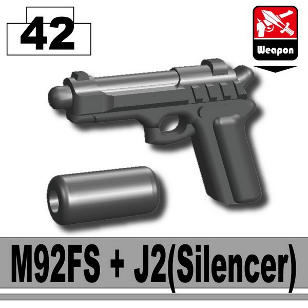 Iron Black_M92FS+J2(Silencer)