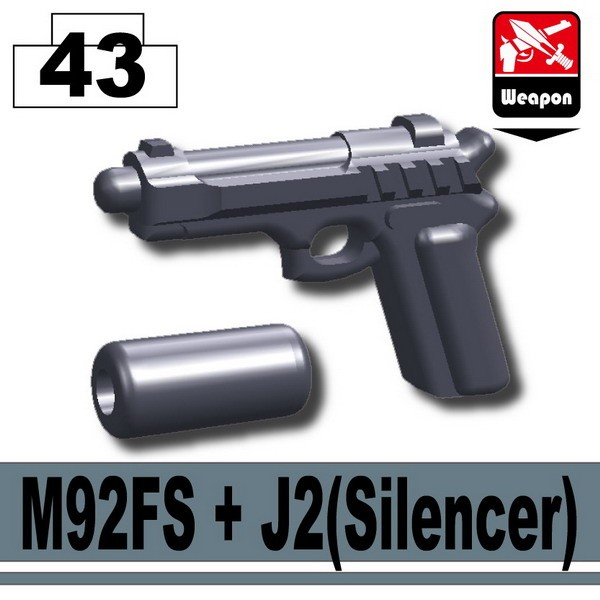 Dark Blue Gray_M92FS+J2(Silencer)
