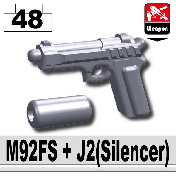 Light Silver_M92FS+J2(Silencer)