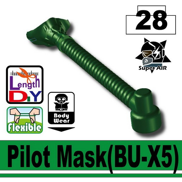 Dark Green Pilot Mask(BU-X5)