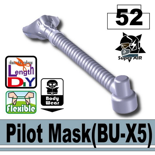 Blue Gray Pilot Mask(BU-X5)