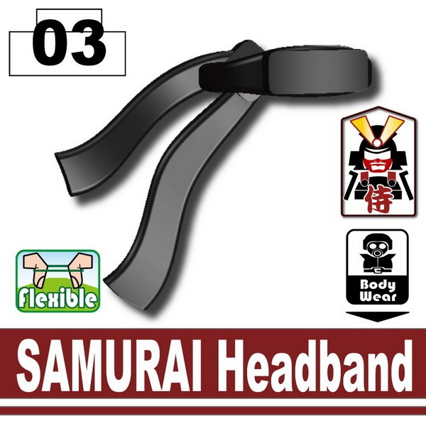 Black SAMURAI Headband