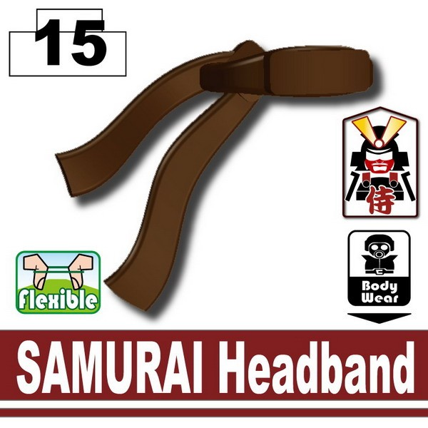 Brown SAMURAI Headband