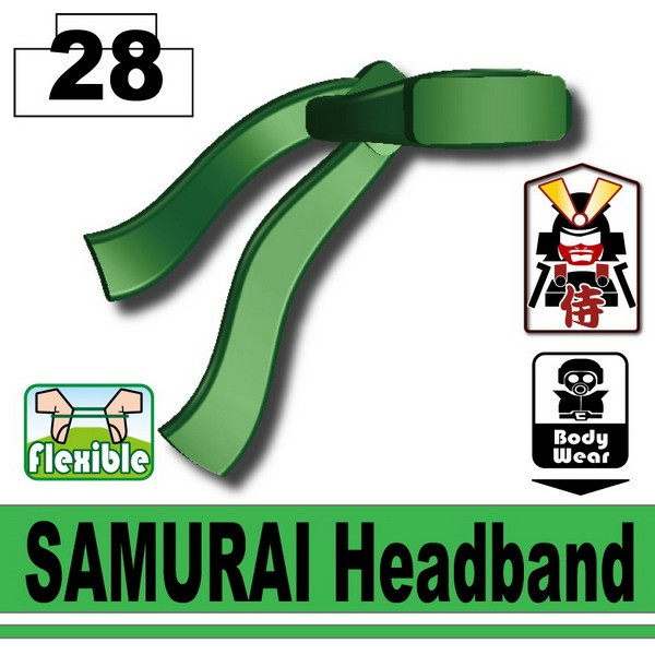 Dark Green SAMURAI Headband