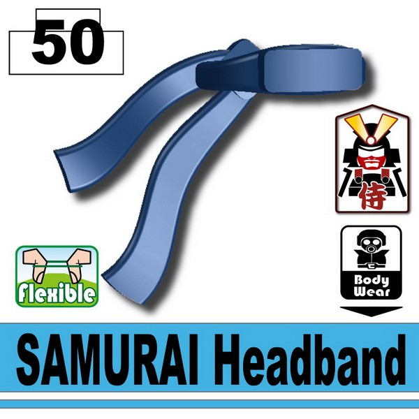 Dark Blue SAMURAI Headband