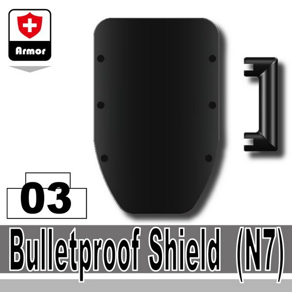 Black_Bulletproof Shield(N7)
