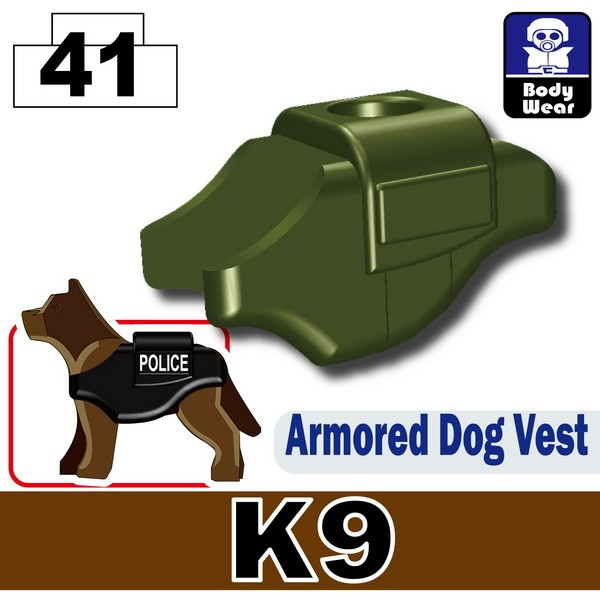 Tank Green_Armored Dog Vest(K9)