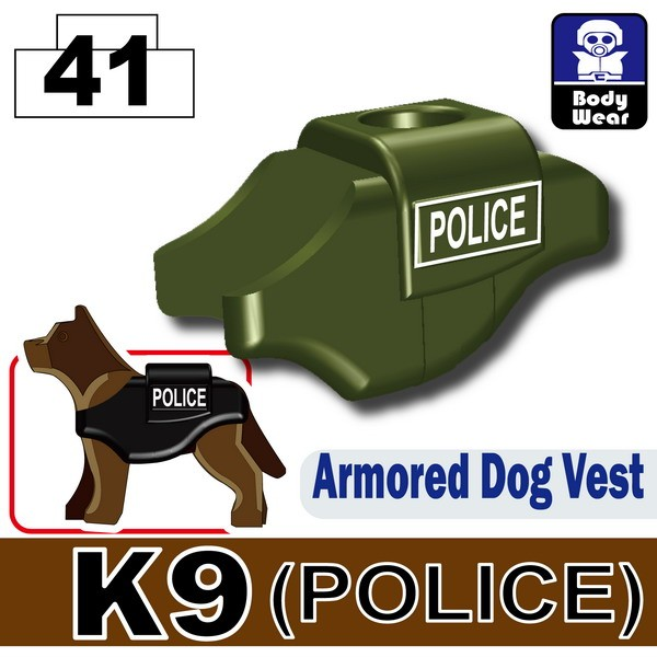 Tank Green_Armored Dog Vest(K9)-POLICE