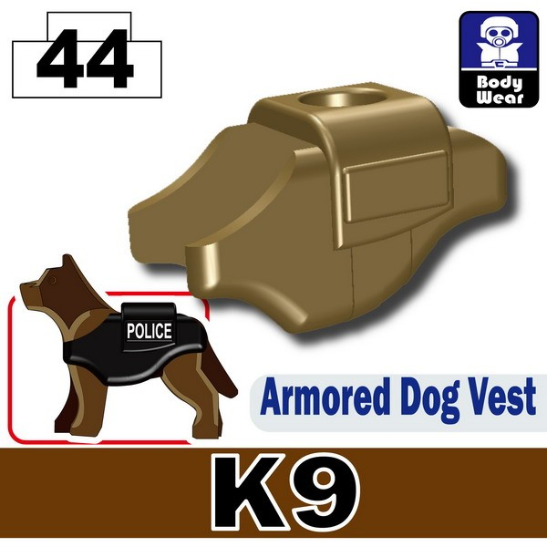 Dark Tan-2_Armored Dog Vest(K9)