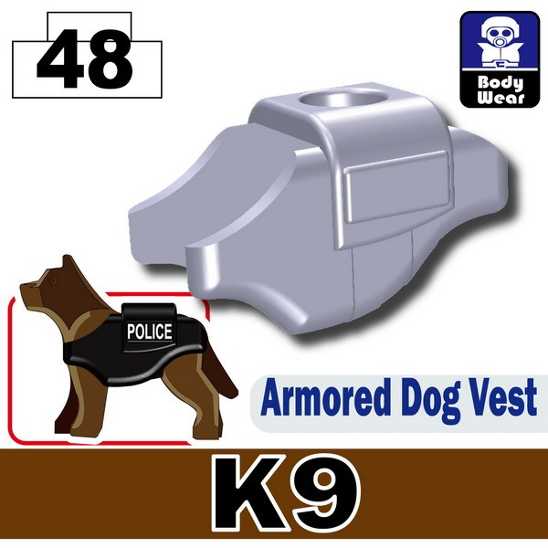 Light Silver_Armored Dog Vest(K9)