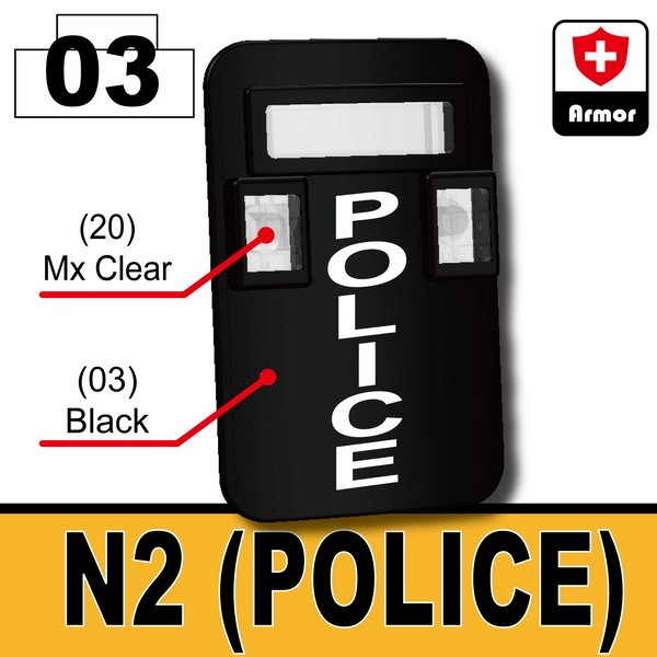 Black_Bulletproof Shield (N2-Police)