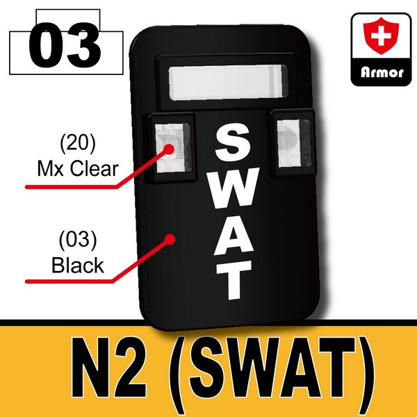 Black_Bulletproof Shield (N2-SWAT)