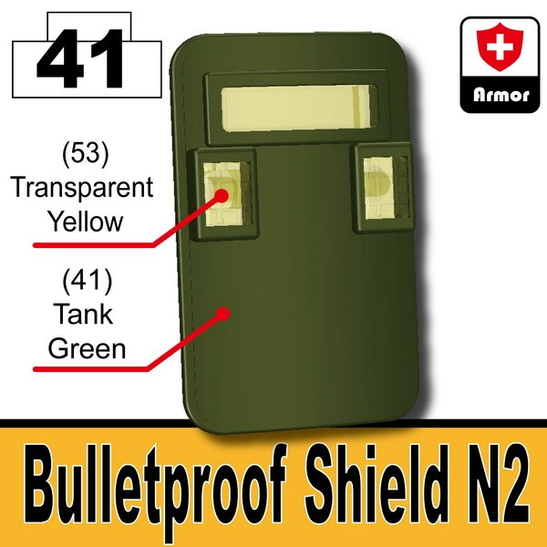 Tank Green_Bulletproof Shield (N2)