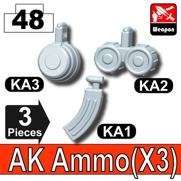 Light Silver_AK Ammo(KA1+KA2+KA3)