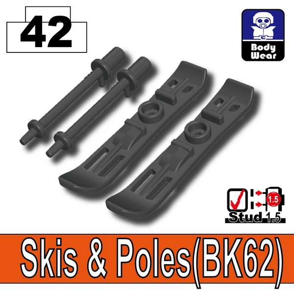 Iron Black_Skis & Poles(BK62)