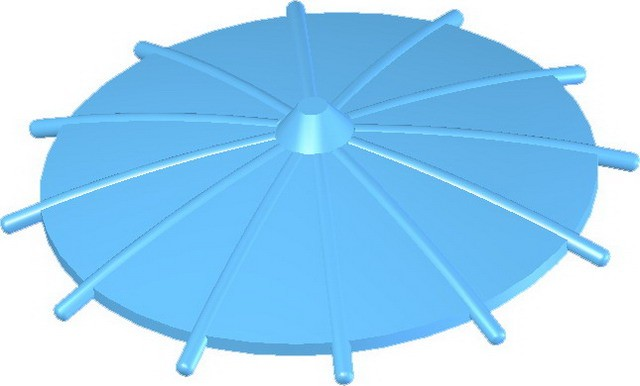 Japanese Umbrella -Medium Blue
