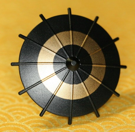 Japanese Umbrella -Black (Gold Circle)-(Printed parts-EP0301)