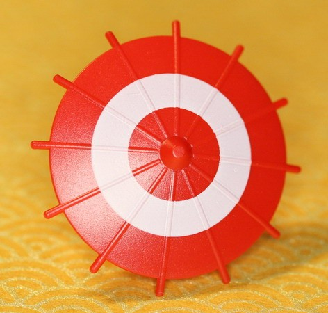 Japanese Umbrella -Red (White Circle)-(Printed parts-EP1301)