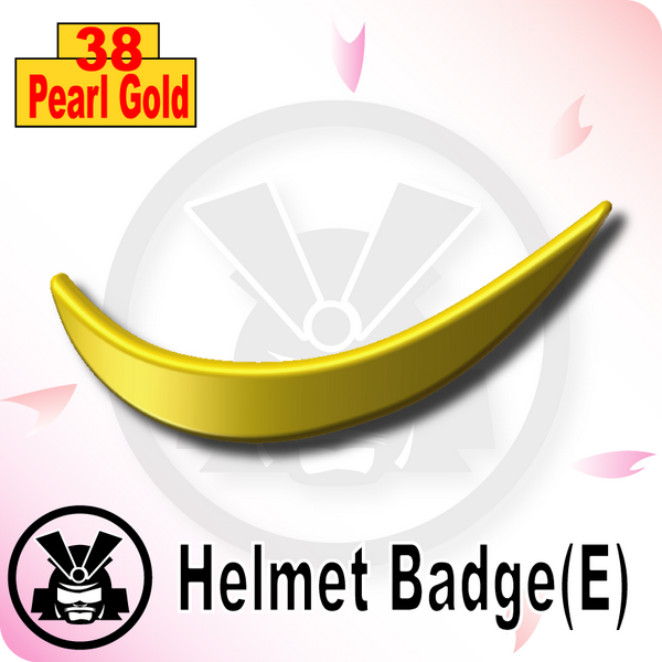 Helmet Badge(E) -Pearl Gold