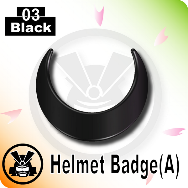 Helmet Badge(A) -Black