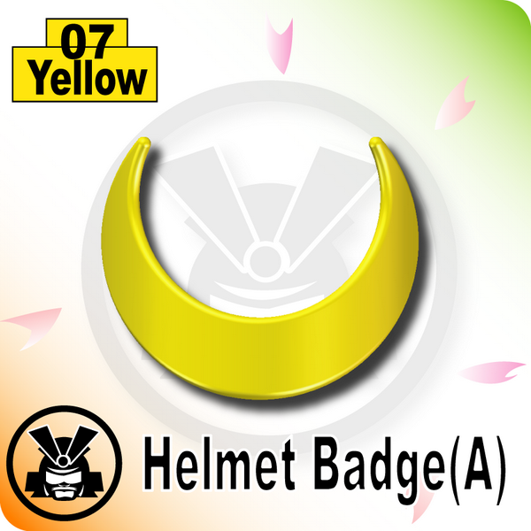 Helmet Badge(A) -Yellow