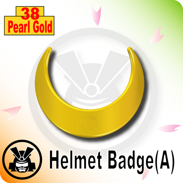 Helmet Badge(A) -Pearl Gold