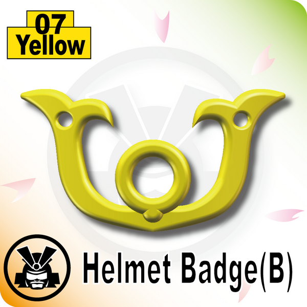 Helmet Badge(B) -Yellow