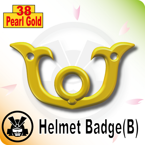 Helmet Badge(B) -Pearl Gold