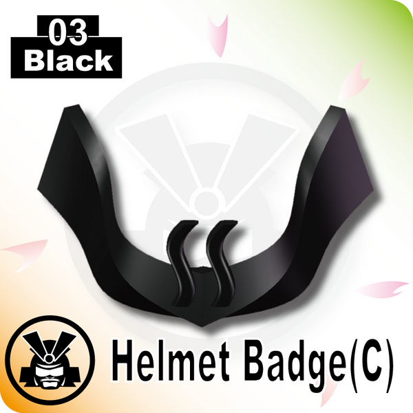Helmet Badge(C) -Black