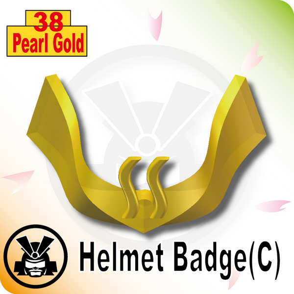 Helmet Badge(C) -Pearl Gold