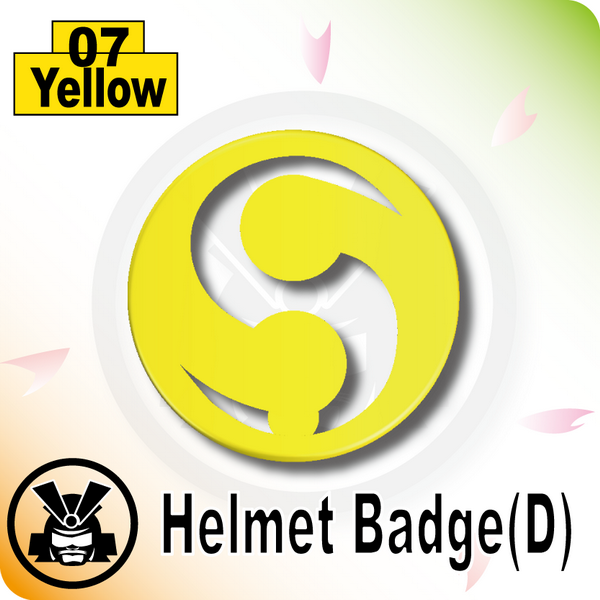Helmet Badge(D) -Yellow