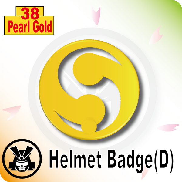 Helmet Badge(D) -Pearl Gold