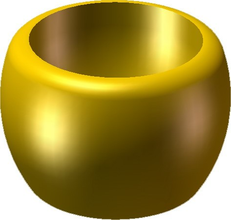 Monk's Bowl -Pearl Light Gold