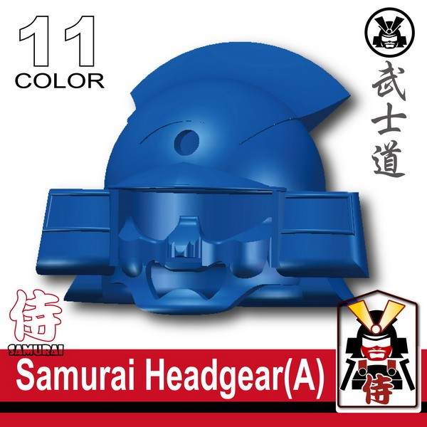 Samurai Headgear (A) -Blue