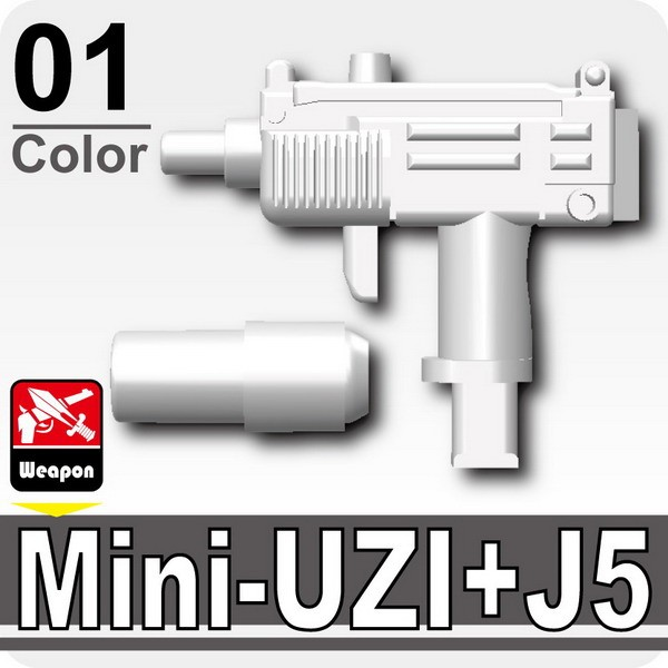 White_Mini-UZI+Silencer(J5)