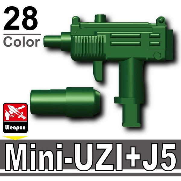 Dark Green_Mini-UZI+Silencer(J5)