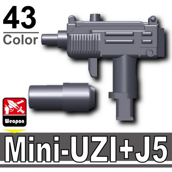 Dark Blue Gray_Mini-UZI+Silencer(J5)