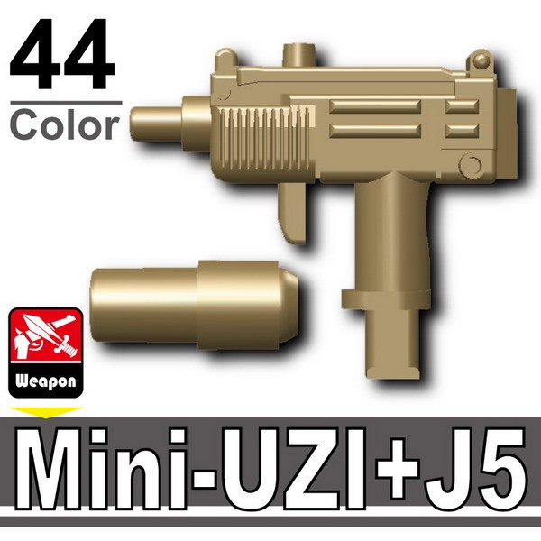 Dark Tan-2_Mini-UZI+Silencer(J5)