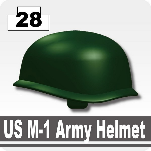 Dark Green_US M-1 Army Helmet