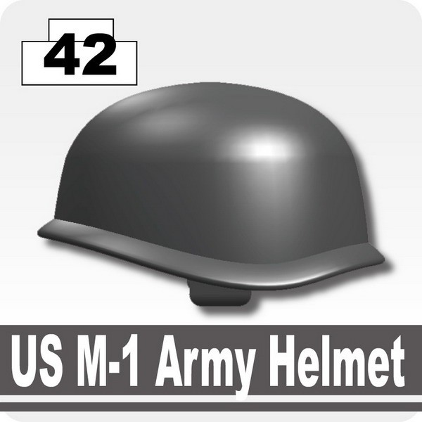 Iron Black_US M-1 Army Helmet
