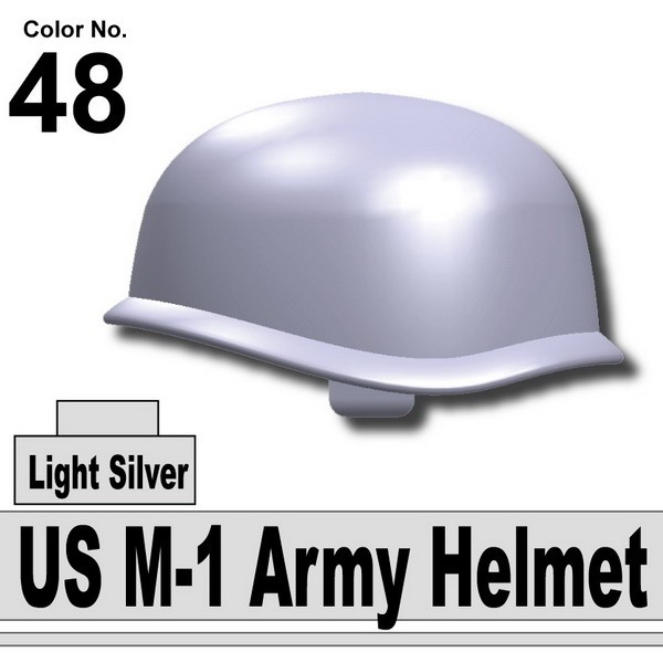 Light Silver__US M-1 Army Helmet