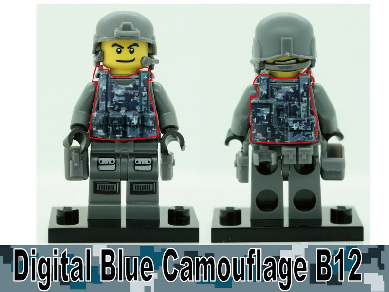 Digital Blue Camouflage-B12