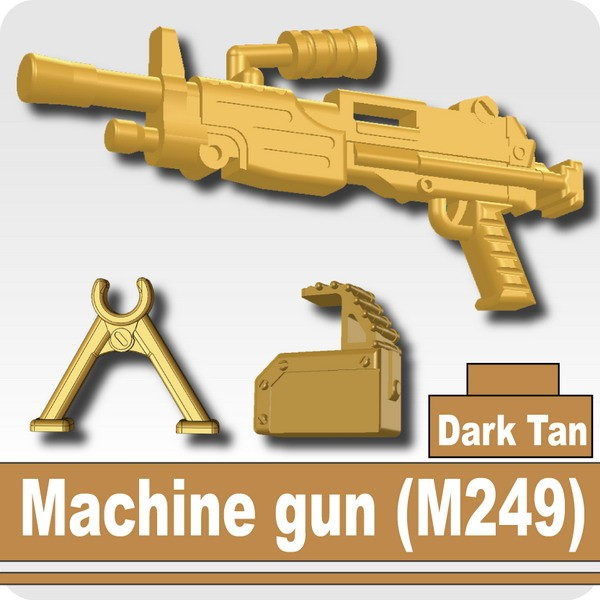 Machine gun (M249) -Dark Tan