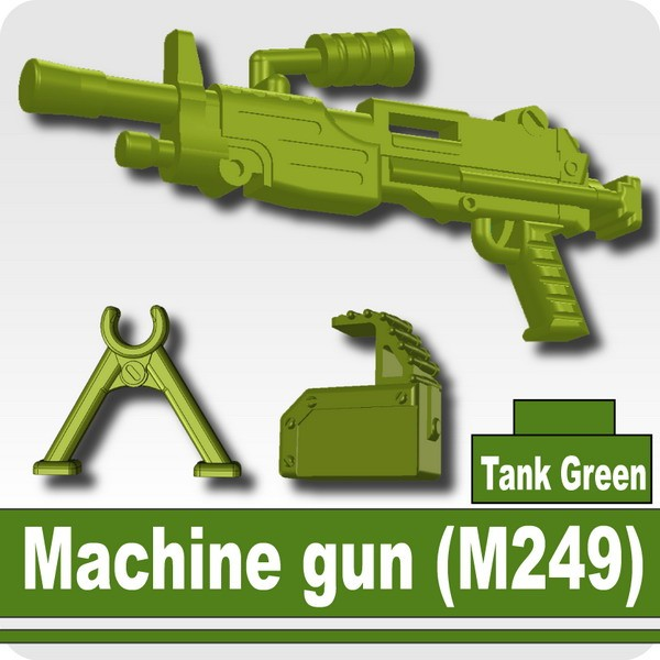 Machine gun (M249) -Tank Green